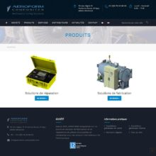 site-aeroform-composites-accueil-produits
